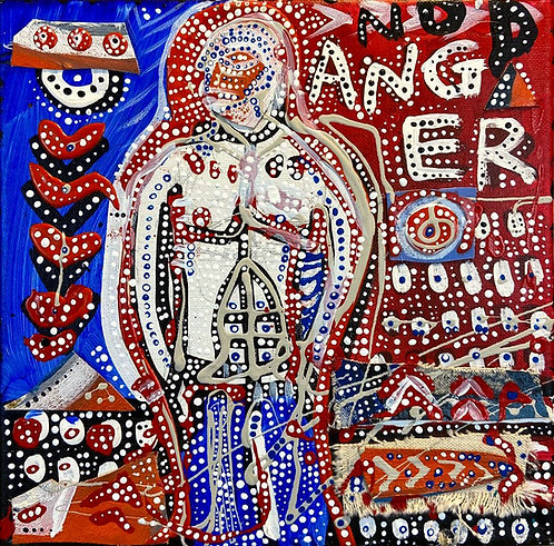 """Original Expressionist painting """"No Anger"""""""