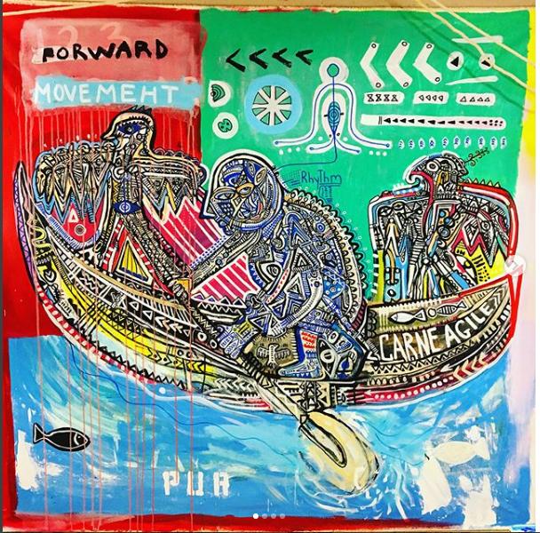 """Forward Movement"" painting"
