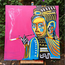 """Lady with a Cigarette"""