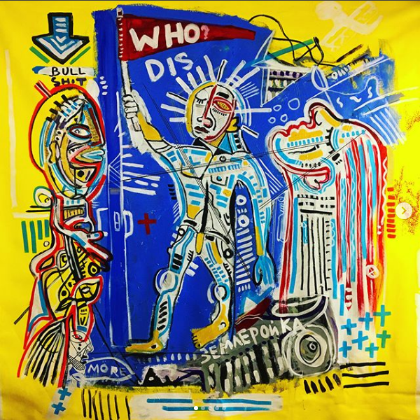 "Acrylic Painting ""Who Dis ?"""