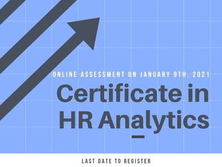 """Online Assessment & Certification Program on  """"HR Analytics"""""""