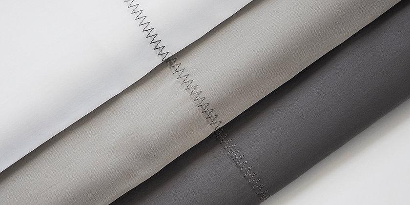 6 - piece Zig-Zag Stitched Hemmed Sheet Set