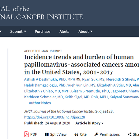 Incidence trends and burden of HPV-associated cancers among women in the US