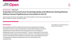 Evaluation of Cervical Cancer Screening Uptake and Adherence Among Women Without HPV Vaccination