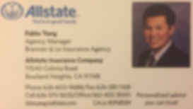 Fabio Yang Allstate Insurance Comapny Brannan & Lo Insurance Agency