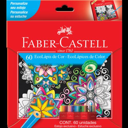 Lápis Faber Castell 60 cores