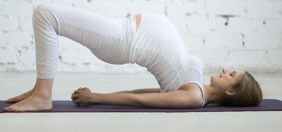 Pregnancy Yoga and Fitness concept. Port