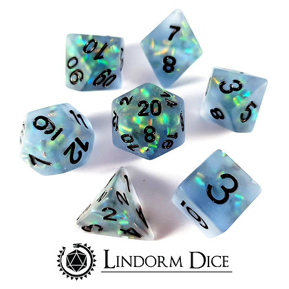 Frosted scale dice - sky