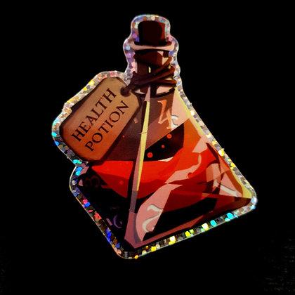 Holo sticker - Health potion D4