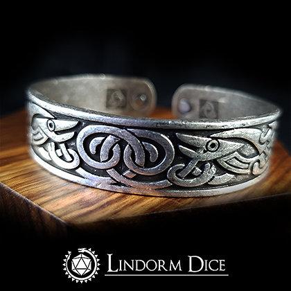 Wyrm knot bangle bracelet