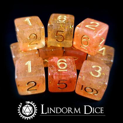 Freja D6 pack-Norse mythology dice - 10pcs
