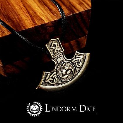 """Kopia av Axe necklace with """"o"""" rune (Gold)"""