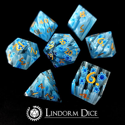 Glass sea - infused glass dice