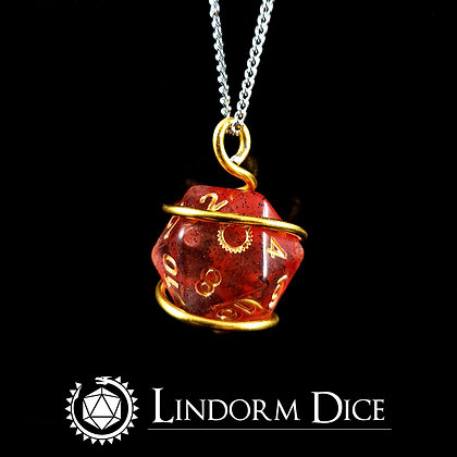 Bloodrune D20 Necklace - with logo