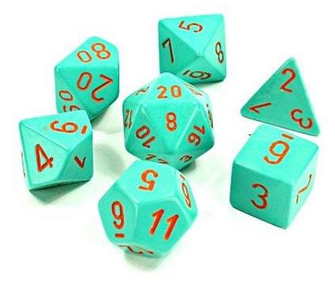 Heavy™Dice Polyhedral Turquoise/orange 7-Die Set