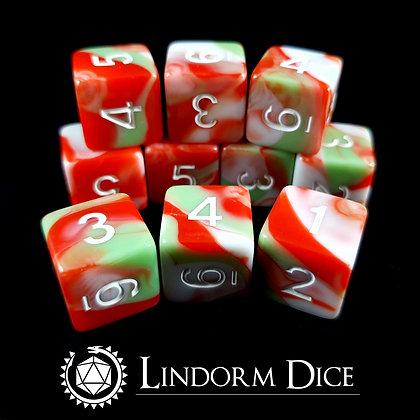 Blot D6 pack-Norse mythology dice - 10pcs