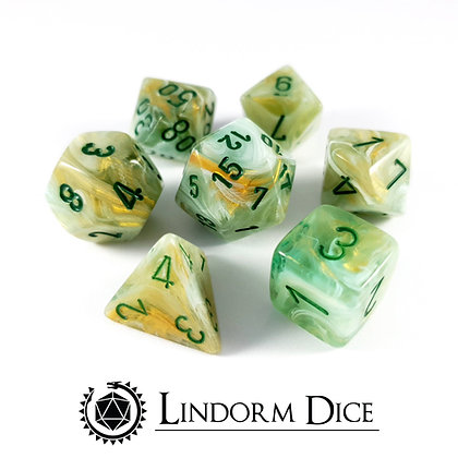 Chessex marble green with Green