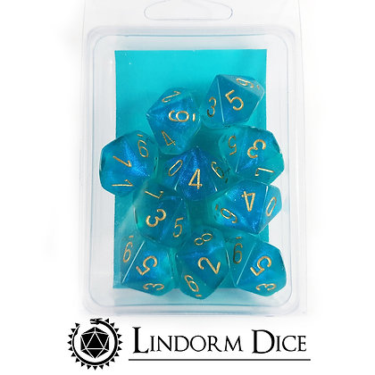 Chessex borealis teal D10 pack (not luminescent)