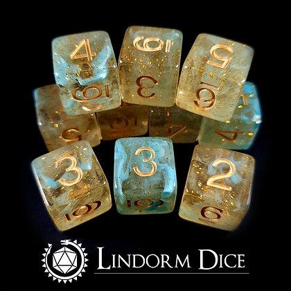 Njord D6 pack -Norse mythology dice - 10pcs