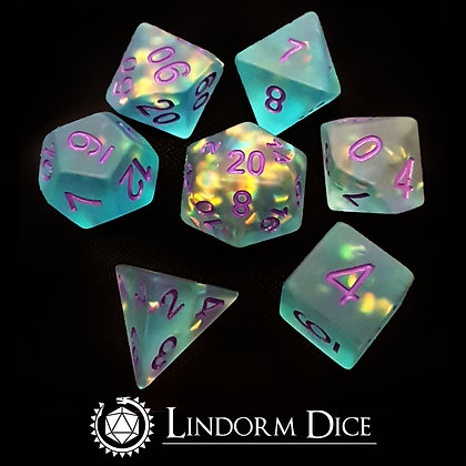 Frosted scale dice - ocean