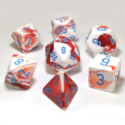 Chessex Gemini Red - White  Lab dice