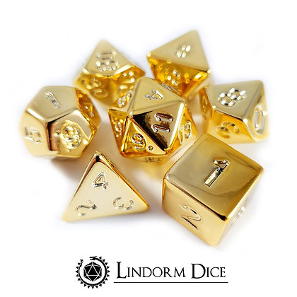 Gold electroplated metal dice (acrylic dice plated with metal)