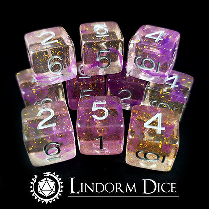 Balder D6 -Norse mythology dice - 10pcs