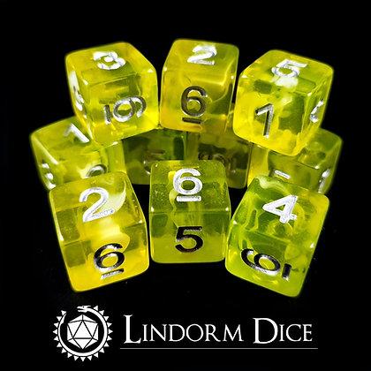 Fen fire  D6 pack -Norse mythology dice - 11pcs