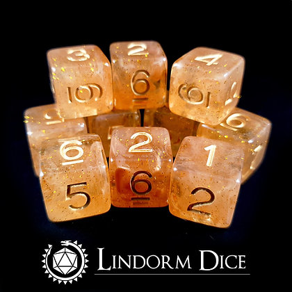 Tor D6 pack-Norse mythology dice - 10pcs