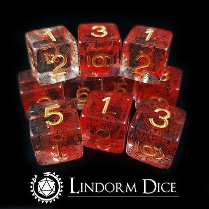 Bloodrune D6 pack  -Norse mythology dice - 10pcs
