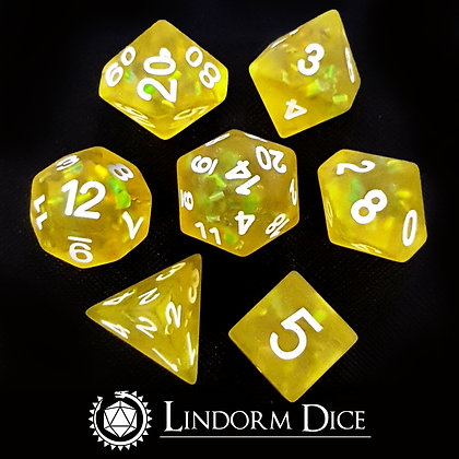 Frosted scale dice - citrus