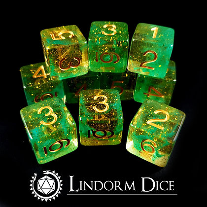 Loki D6 pack -Norse mythology dice - 10pcs
