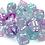 Thumbnail: Chessex Nebula TM Wisteria / White 7 pcs set