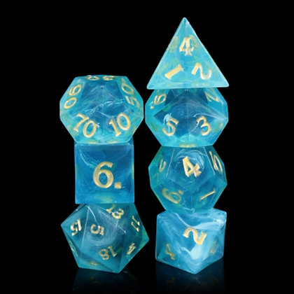 Hand made, Sharp edge dice - Neptunes throne