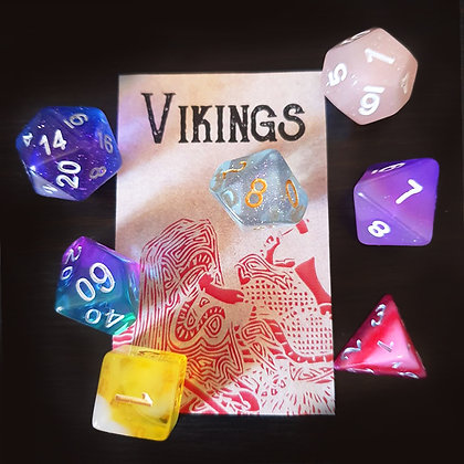 Set of vikings - a set assembled with different colors