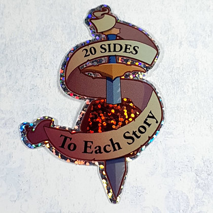 Holo sticker - 20 sides to each story