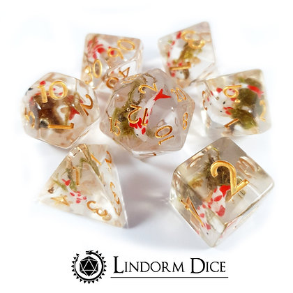 Koi fish dice - red