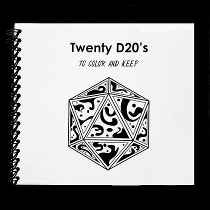 D20 coloring book