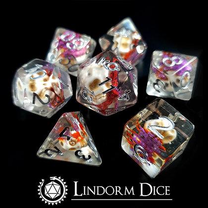 Yucatan - floral skull dice