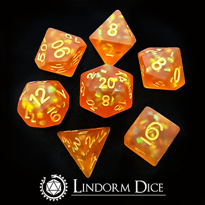 Frosted scale dice - fire