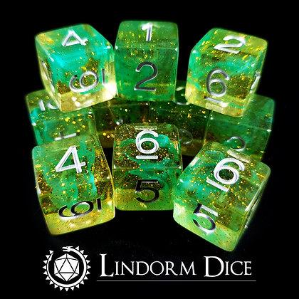 Jörmungandr D6 pack-Norse mythology dice - 10pcs