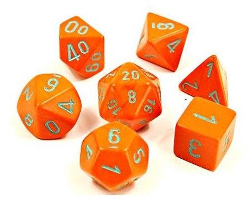 30038 Heavy™ Dice Polyhedral Orange/turquoise 7-Die Set