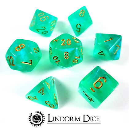 Chessex borealis light green w/gold
