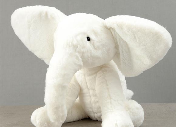 Bambino White Plush Elephant