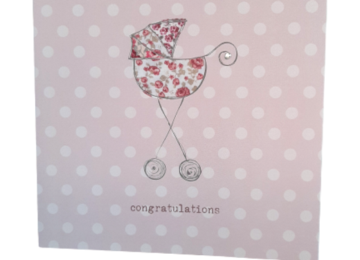 'Love This' New Baby Girl Greetings Card