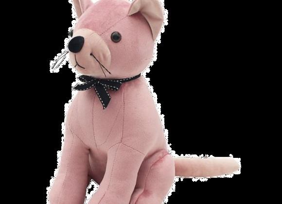 Pink Velveteen Cat Doorstop