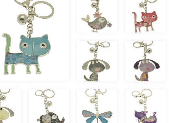 Cute Character Keyring: various designs