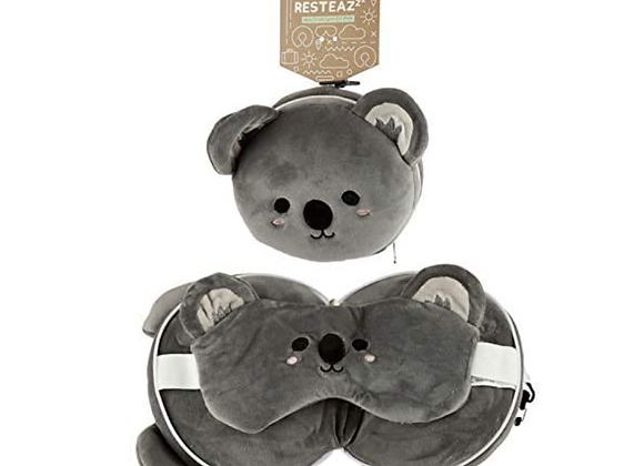 Koala Travel Pillow & Eye Mask Combo
