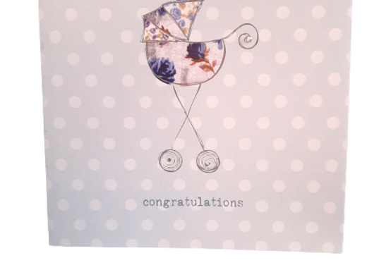 'Love This' New Baby Boy Greetings Card