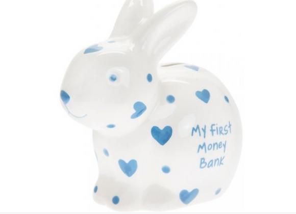 My First Bunny Money Box -BLUE
